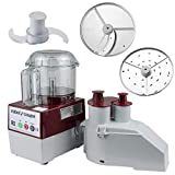 Robot Coupe R2N CLR Continuous Feed Combination Food Processor with 3-Quart Clear Polycarbonate Bowl, 1-HP, 120-Volts
