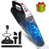 Handheld Vacuum, Hand Vacuum Cordless Portable Vacuum Cleaner with Li-ion Battery Rechargeable Quick Charge Tech, 2 LED Light Wet Dry Car Vacuum for Home and Car Cleaning, Ideal Gift for Christmas
