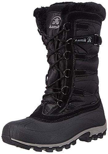 Kamik Women's Snowvalley Winter Snow Boot ,Black BK2,8 M US