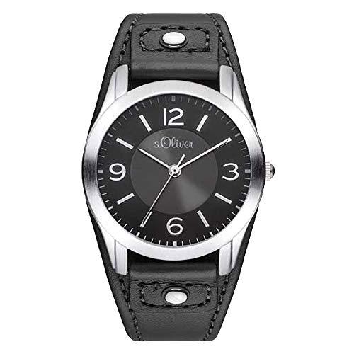 s.Oliver Damen Analog Quarz Armbanduhr SO-2945-LQ