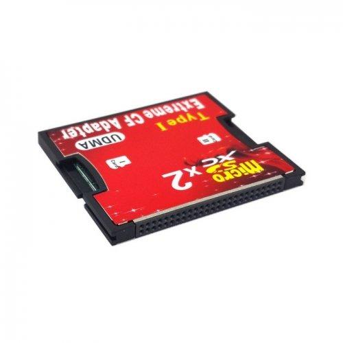 Dual slot TF o micro SD a tipo i Compact Flash card CF Reader adattatore per Nikon Cannon Carema Cablecc