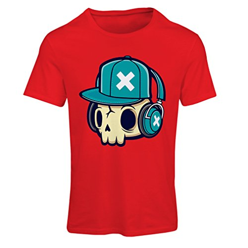 lepni.me Maglietta Donna The DJ! (X-Large Rosso Multicolore)