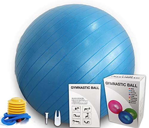N/K Pregnancy Birthing Ball (65cm) Extra Thick Exercise Ball-Eco-Friendly Anti-Burst Heavy Duty Stability Ball Supports 2200lbs, – Stability Ball for Home, Gym, (Black)