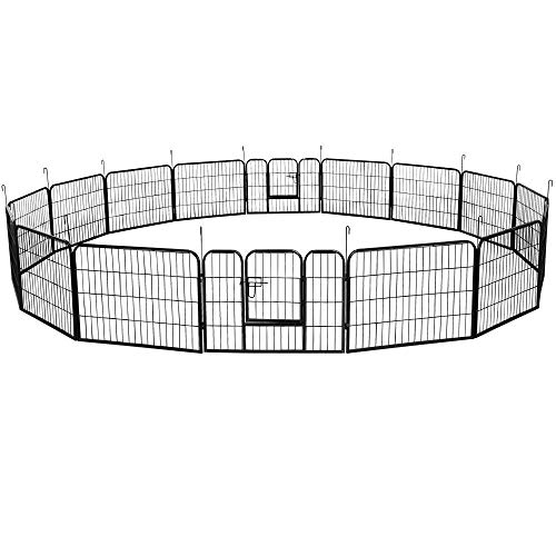 YAHEETECH Decorative Garden Fence - 24in x 43ft Rustproof Folding...