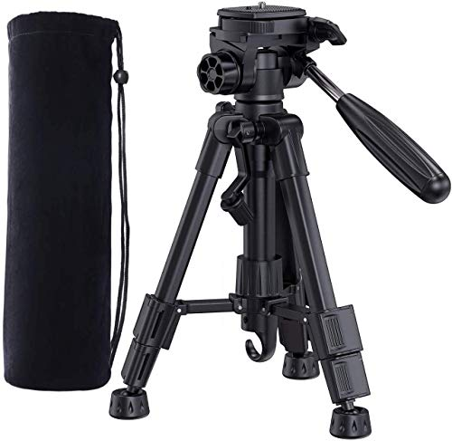 Bomaker Adjustable Tripod for Projector, Camera, DSRL, 360 Degree, Aluminum Travel Tripod with Carry Bag 24.4 inches Lightweight Tripod, Easy to Install and Carry