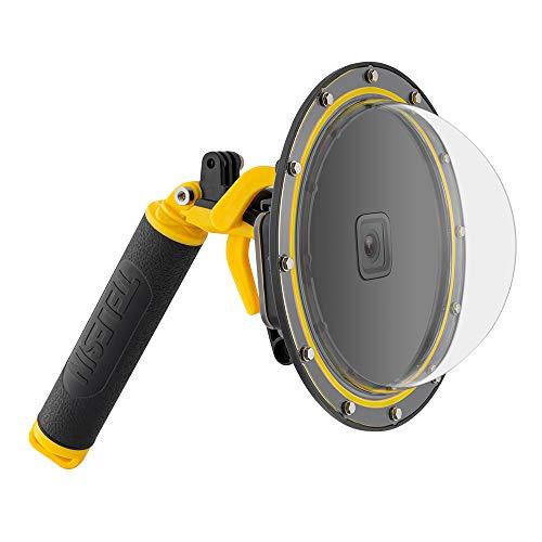 TELESIN Dome Port per GoPro Hero 8 , custodia subacquea per obiettivo della fotocamera subacquea, protezione dell'obiettivo, con custodia impermeabile, grilletto a pistola,impugnatura galleggiante