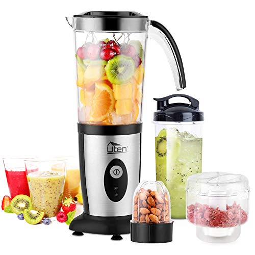 Uten Blender Smoothie 1.25L, Mini Blender, Mixeur Blender pour Milk-Shake,...