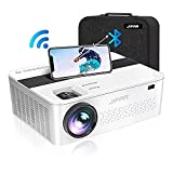 WiFi Bluetooth Native 1080P Projector with 450' Display,9000 Lux HD 4K Projector for Outdoor...