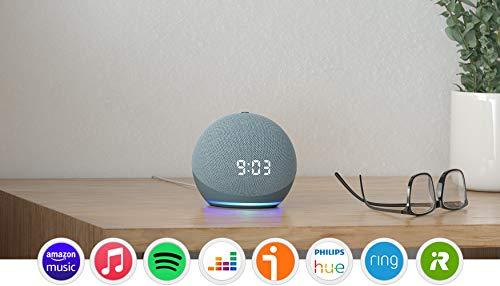 Nuevo Echo Dot (4.ª generación) | Altavoz inteligente con reloj y...
