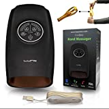 Lunix Cordless Electric Hand Massager w/Compression - 6 Levels Pressure Point Therapy Massager for Arthritis, Pain Relief, Carpal Tunnel and Finger Numbness - Shiatsu Massage Machine with Heat -Black