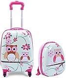 Bcaer Infantil Maletas, Maletas de Viaje, Maletas Trolley para niños, Mochilas, Maletas Lindo Madre y el niño Maletas niñas,Pink