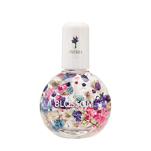 Blossom Scented Cuticle Oil (0.92 oz/large) infused with real flowers - made in USA (Lavender)