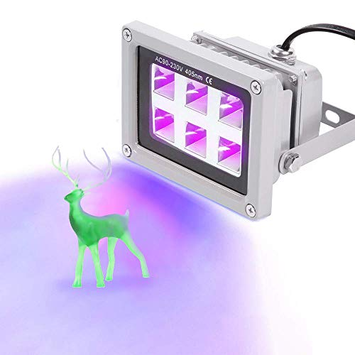 UniTak3D Luz de Curado de Resina UV 405nm 6W, Efecto de Sali