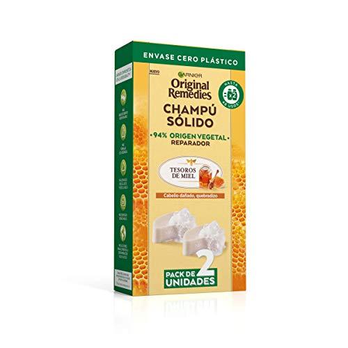 Original Remedies Pack 2 Champús Sólidos - Tesoros de Miel para cabello dañado, quebradizo