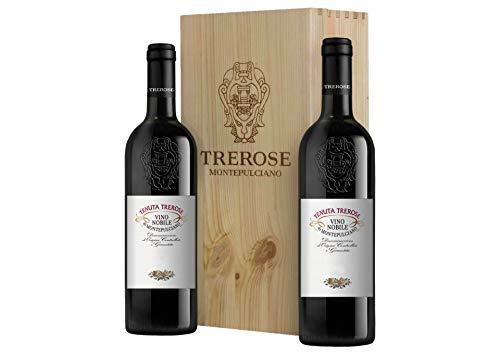 Nobile di Montepulciano DOCG Cassetta da 2 bottiglie: Nobile di Montepulciano Trerose Trerose 2016 0,75 L, Cassetta di legno