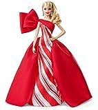 Barbie Signature Poupée de Collection Tenue de Noël, Robe Blanche et Rouge, Édition 2019, Jouet Collector, FXF01