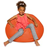Posh Beanbags Bean Bag Chair, Large-38in, Solid Orange