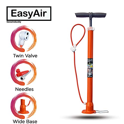 EasyAir Portable Bike Tyre Inflator Bicycle Air Pump (2.3 ft Long)