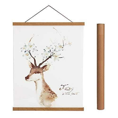 Magnetic Poster Hanger Frame, 24x36 24x32 24x18 Light Wood Wooden...