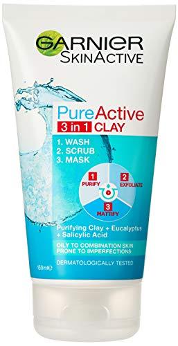 Garnier Skin Naturals Pure 3in1 Wash+scrub+mask : 150ml.