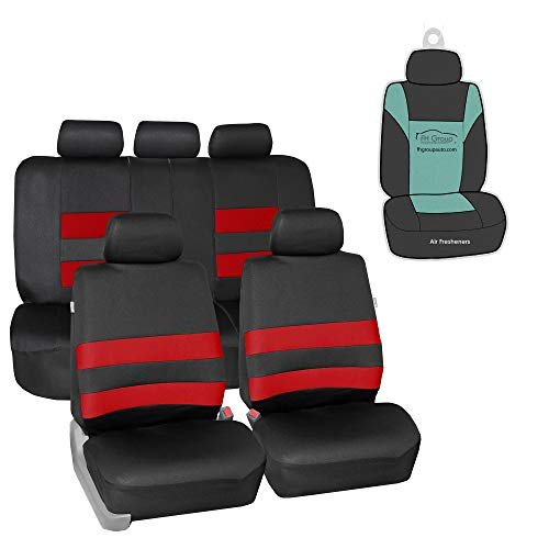 FH Group FB087115 Premium Neoprene Seat Covers (Red) Full Set with Gift - Universal Fit for Cars Trucks and SUVs