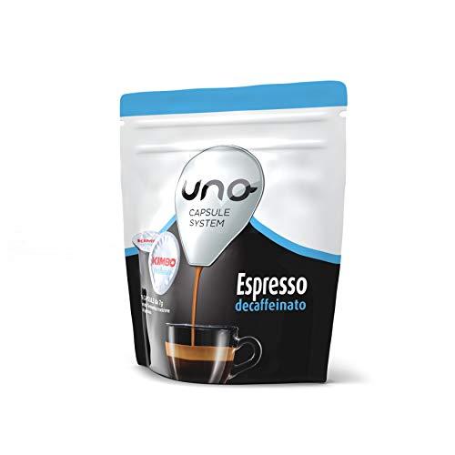 Kimbo Capsule di Caffè Espresso Decaffeinato (Deca), Kimbo UNO System, 6 Pacchi da 16 Capsule (Totale 96 Capsule)