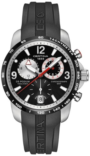 Certina Herren-Armbanduhr XL Chronograph Quarz Kautschuk C001.639.27.057.00