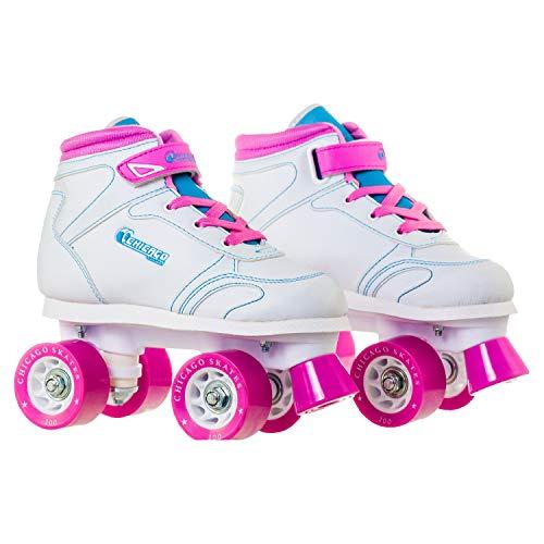 Chicago Girls Sidewalk Roller Skate - White Youth Quad Skates - Size J12