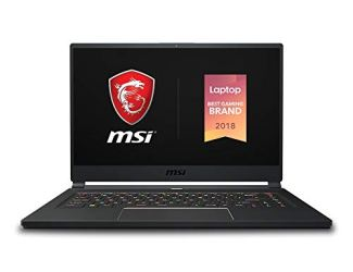 MSI GS65 Stealth-005 15.6' Razor Thin Bezel Gaming Laptop NVIDIA RTX 2080 8G Max-Q, 144Hz 7ms, Intel i7-8750H (6 cores), 16GB, 256GB NVMe SSD, TB3, Per Key RGB, Win10P, Matte Black w/ Gold Diamond cut