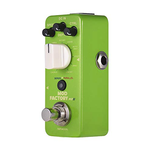 Pannow MOD FACTORY MKII Multi Modulation Effect Pedal 11 Modulation Effects Tap Tempo True Bypass Full Metal Shell