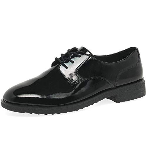 Clarks Griffin Lane, Zapatos de Cordones Derby Mujer, Negro (Black Pat Black Pat), 40 EU