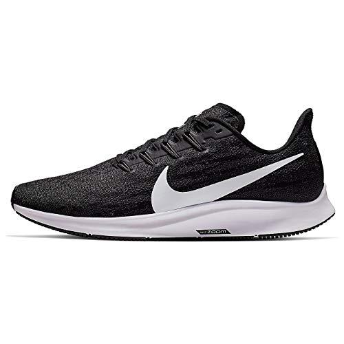 Nike Men's Air Zoom Pegasus 36 Running Shoes (Black/White-Thunder Grey, 8.5)