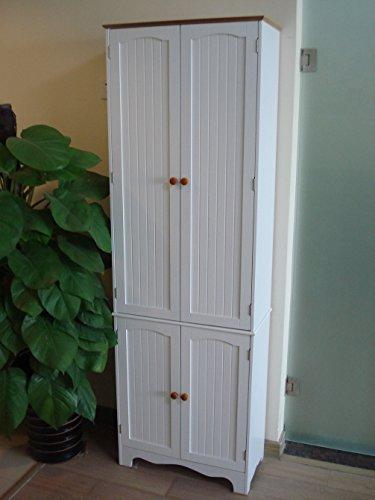 Homecharm-Intl 23.8x11.8X 72.2-Inch Storage Cabinet,White(HC-004)