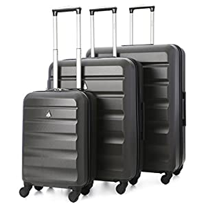 "ALL YOUR LUGGAGE NEEDS IN ONE SET: The perfect luggage solution for individuals, groups and families – with a total of over 240 litres of storage space - plus the cases fit inside each-other for super-easy storage. 21"" Dimensions: 55x35x20cm (All Par..."