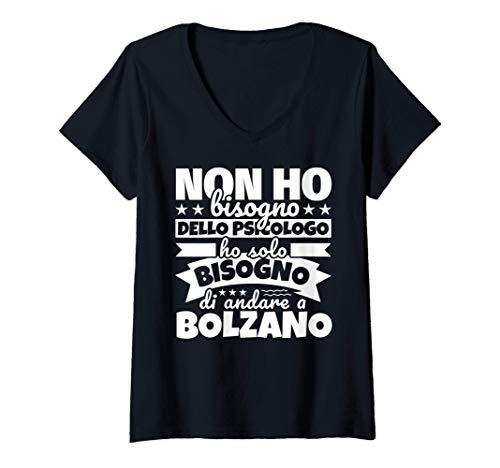 Donna Bolzano regalo divertente amante degli Bolzano Maglietta con Collo a V