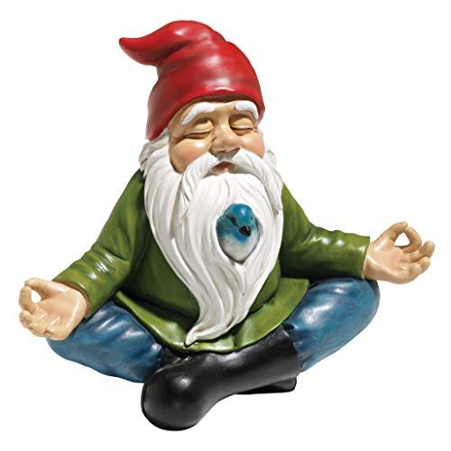 Design Toscano Zen Garden Gnome Statue, 8 Inch, Polyresin,...