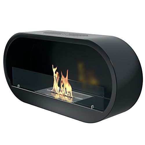 Imagin IMBF21B Wall Mounted Bioethanol Fireplace, Black