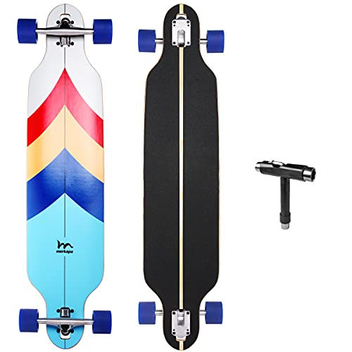 M Merkapa 41 Inch Drop-Through Longboard Skateboard Cruiser (Sailing)