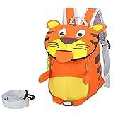 LUSTAR Lindo Tigre Niño Mochilas Peluche Animal Escolar Bolsa De Viaje Daypack Orange