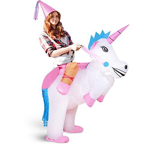 xiaoyi Disfraz Hinchable de Halloween para Adulto/niño, Disfraz Hinchable para Disfraz de Fiesta de Disfraces, Caballo Hinchable/Unicornio Hinchable/Disfraz de Dinosaurio Hinchable