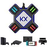 Adaptador KX para ratón y teclado: Utilizando este convertidor puede disfrutar de juegos FPS en diferentes dispositivos con teclado y ratón USB (el teclado con interfaz USB HUB no es compatible). Cuando conecta el adaptador con PS4/Xbox One consola, ...