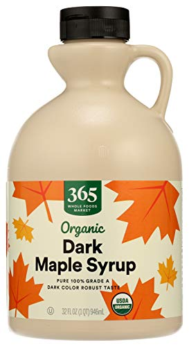 365 Everyday Value, Organic Pure 100% Grade A Maple Syrup, Dark Color Robust Taste, 32 Fl Oz (Packaging May Vary)