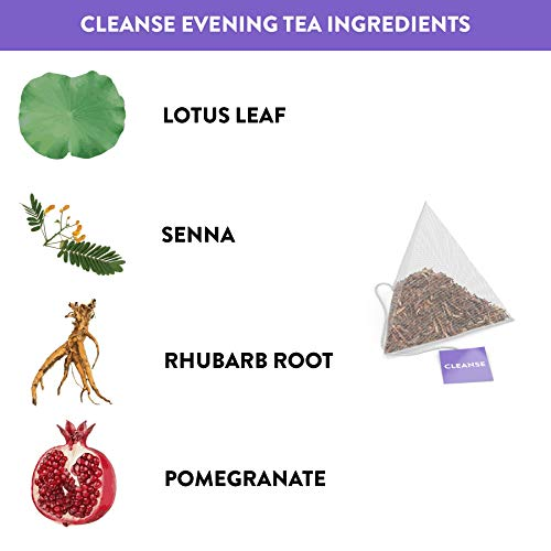 Skinny Tea 28 Day Detox Tea for Weight Loss and Reduced Tummy Bloating: The Original 2-Step Detox Tea Program Includes 28 Morning Boost & 28 Evening Cleanse Pyramid Tea Bags 4