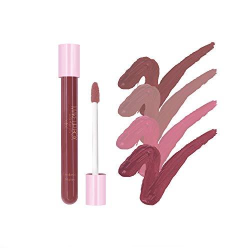 MAKE UP BOX 4 Labiales Matte Larga Duración tonos Nude Collection lip gloss endless Matte 12-horas Touch-proof libres de plomo, conservadores y parabenos,cruelty free