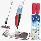 Balai lave sol avec vaporisateur,Winpok Microfibre balais serpillère pour...