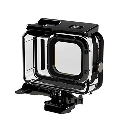 Custodia protettiva per GoPro Hero 9, impermeabile subacquea subacquea fotografia Shell case, custodia per fotocamera Action Case Cover con base e vite, nero
