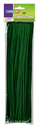 Creativity Street Chenille Stems/Pipe Cleaners 12 Inch x 4mm 100-Piece, Green