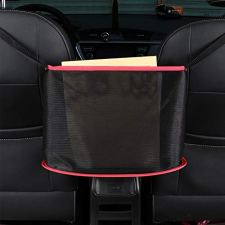 41bU3XnHh6L [EXTRA STORAGE]The Car Net Pocket Handbag Holder completely covers the interval between the front two seats and make them your extra storage. It can stretch to the perfect size based on different spaces between the driver and the passenger seats of various car models. 【FASHION DESIGN】Our car leather handbag cover is made of high-quality leather, frayed edge design,Not only strong flexibility, but also more often beautiful. [SAFE DRIVING]Net Pocket Handbag Holder helps reduce distracted driving by providing easy access to your purse contents without taking your eyes off the road. It eliminates the need for inconvenient purse placement at your passenger's feet.