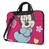 15.6 ″ Viaje de Negocios Lindo Minnie Mouse Laptop Notebook PC Maletín Bolso Bandolera de Hombro Funda