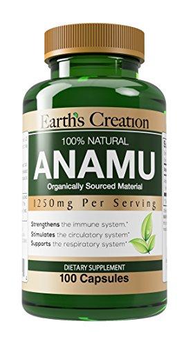 Earth's Creation Anamu 1250mg 100% Organically Grown - 100 Capsules